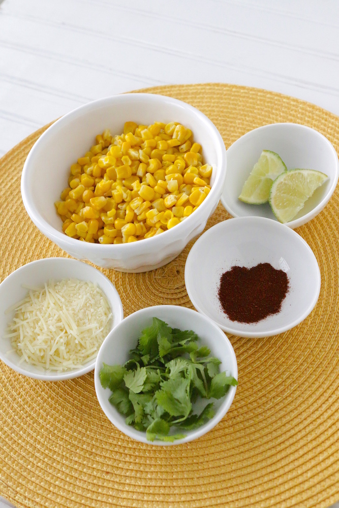In honor of our Cinco de Mayo theme, we're back with another delicious recipe. This one is a take of Mexican street corn, but in a bowl!