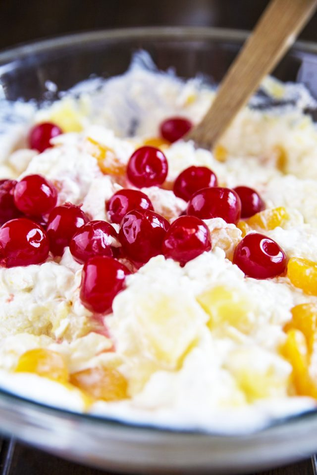Easy Ambrosia Fruit Salad. When I was a kid, my grandmother always had a fruit salad of some kind for family functions and gatherings, but there was one that was my absolute favorite - ambrosia fruit salad! It's a staple in my family.