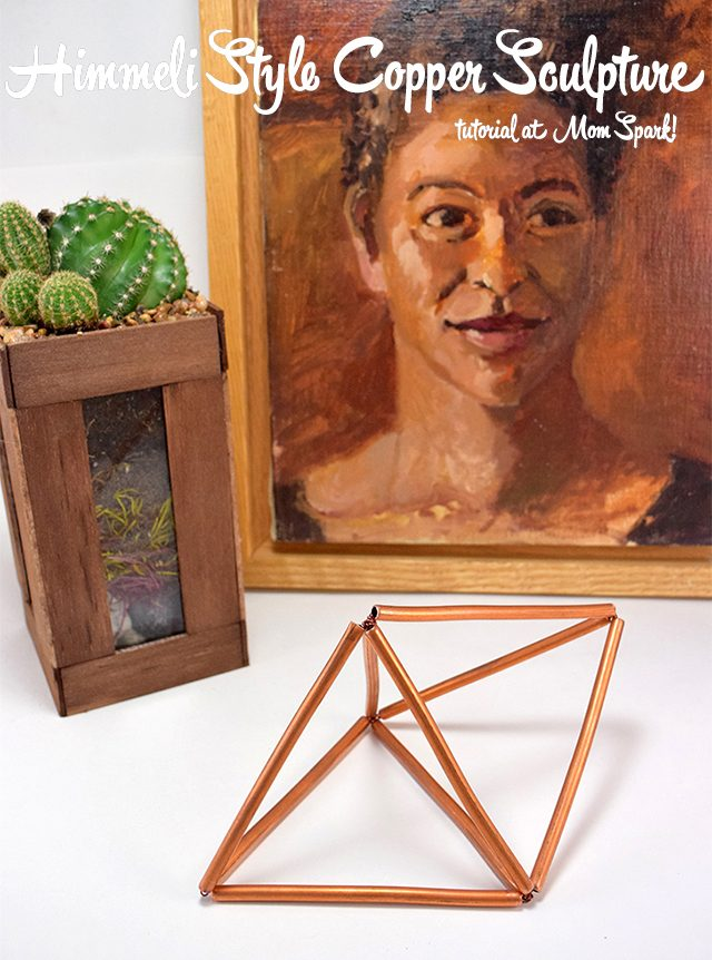 Making a Himmeli style copper sculpture at home is really very easy. Follow this tutorial to make your own!