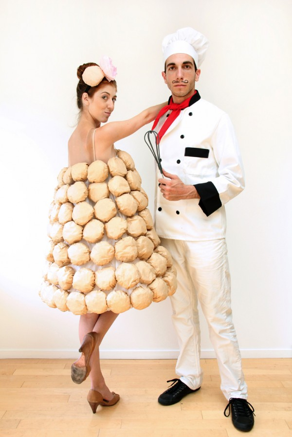 French Chef & Macarons Couples Costume