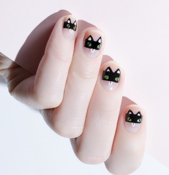 Black Cat Robbers Nails