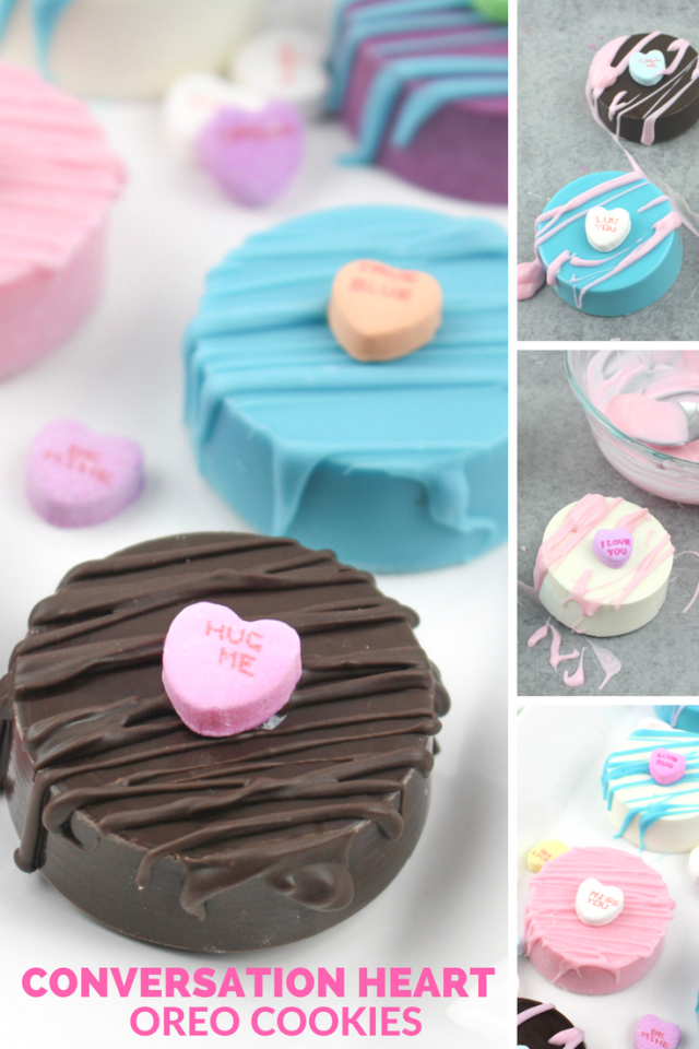 Valentine's Day Conversation Heart Oreo Cookie Dessert Recipe