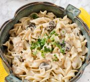 {title} - I'm always on the hunt for a good dinner night idea and if I can do just that in a slow cooker, even better! Today's recipe is an easy slow cooker chicken & mushroom stroganoff recipe that is PERFECT for an easy dinner night meal. Enjoy!