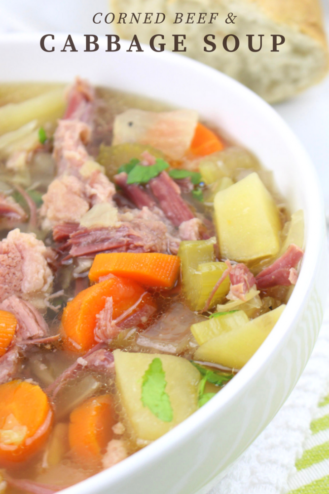 Slow Cooker Crockpot Corned Beef And Cabbage Soup Recipe Mom Spark Mom Blogger