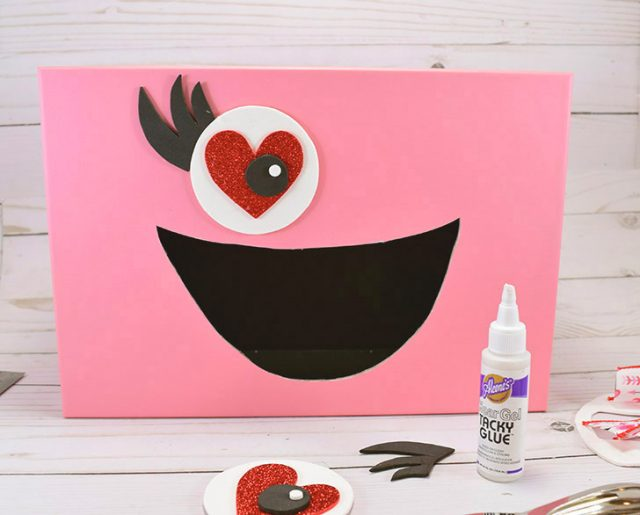 Make a girly monster Valentine's Day Box for the classroom.