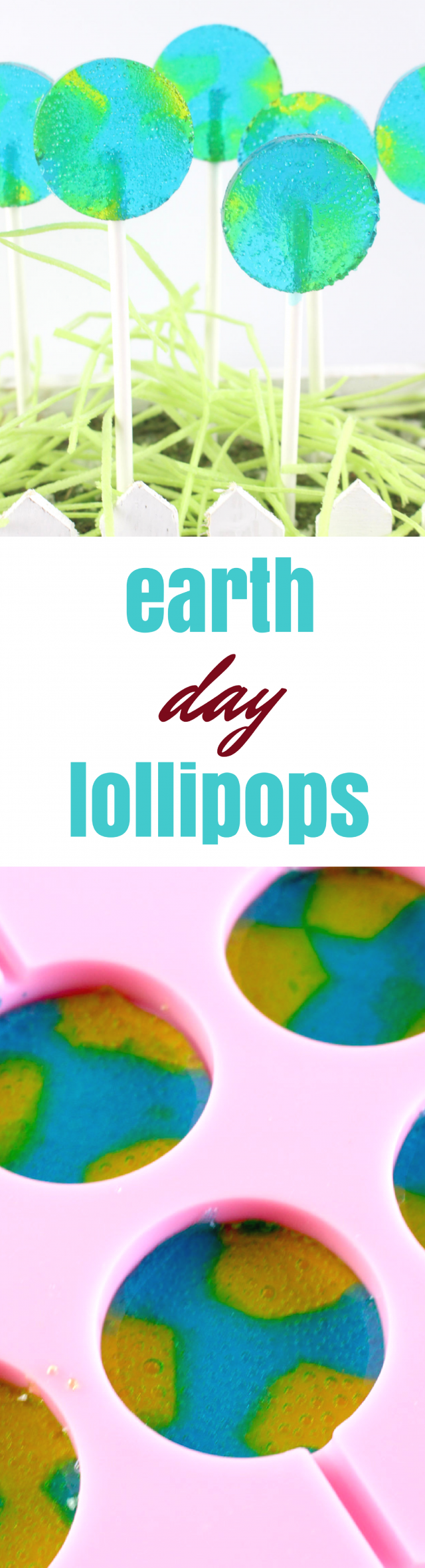 Earth Day is coming up soon, so we wanted to put something fun together for this special day. We think your kids will love it, too. Earth Day lollipops!