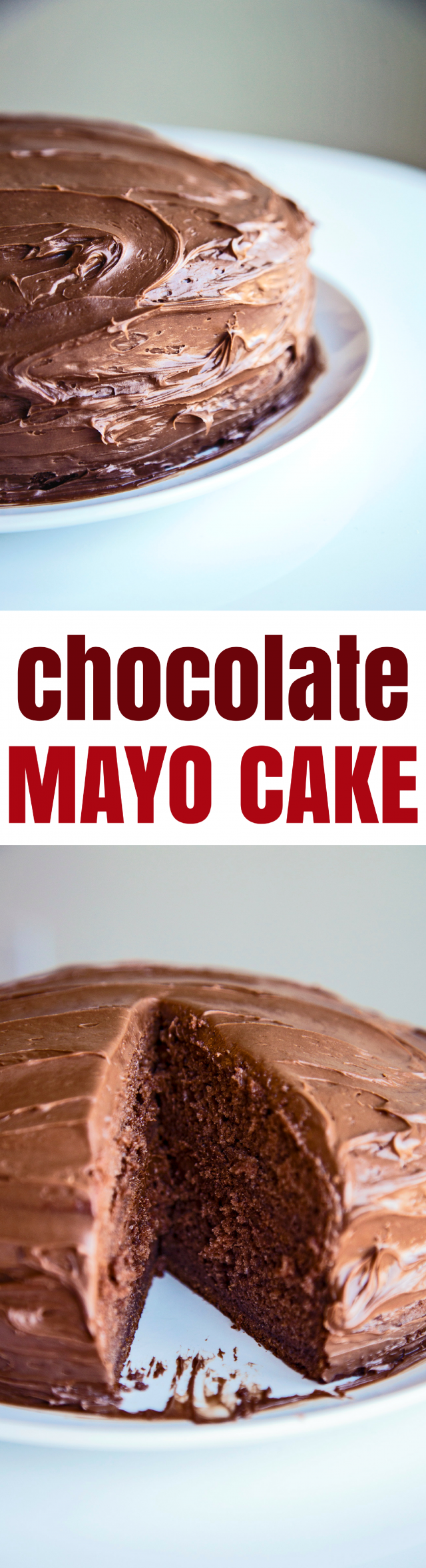 Super Moist Chocolate Mayo Cake Recipe You might be surprised by the secret ingredient that I used in this Super Moist Chocolate Cake recipe I have for you today - mayonnaise!