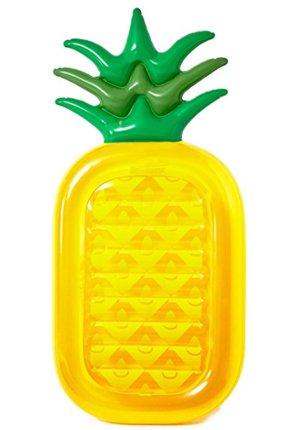 We've already shared a bunch of one-piece swimsuits moms are buying on Amazon right now. Now I'm here to share with you 17 awesome pool floats you need to bring to the pool this summer with this Pineapple Pool Float