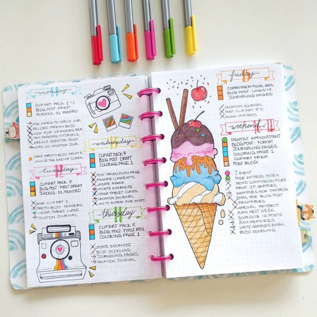 Summertime is the best time to bring your bullet journal to life. Getting inspired with summertime spread ideas is the most fun part of the process. Here are 7 summer spread ideas for your bullet journal.