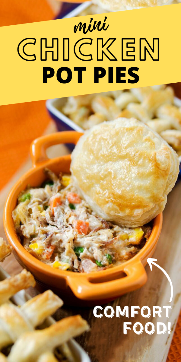 Easy Mini Chicken Pot Pie with Puff Pastry Recipe