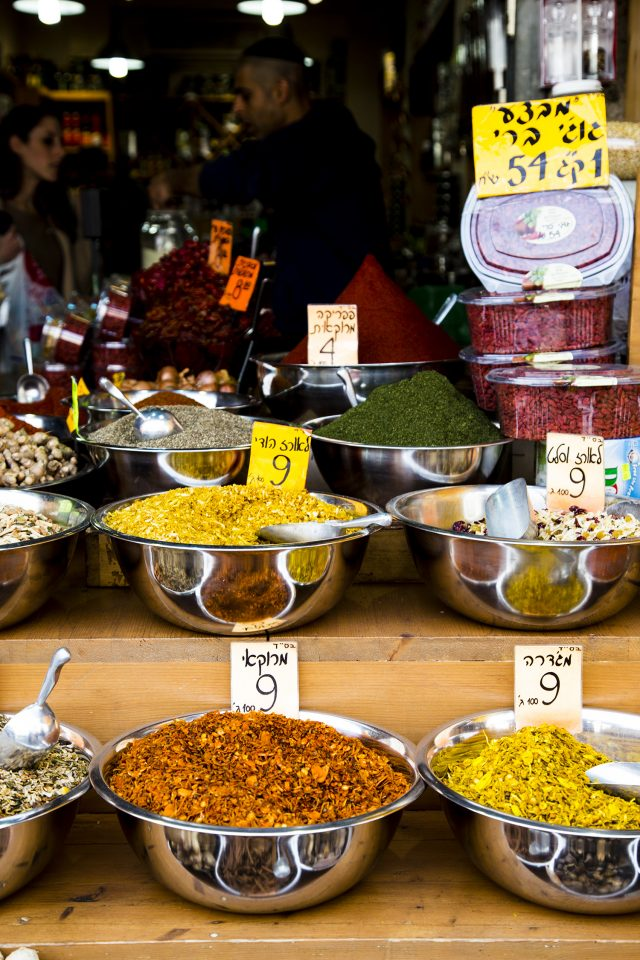 Spices in the markets of Tel Aviv, Israel