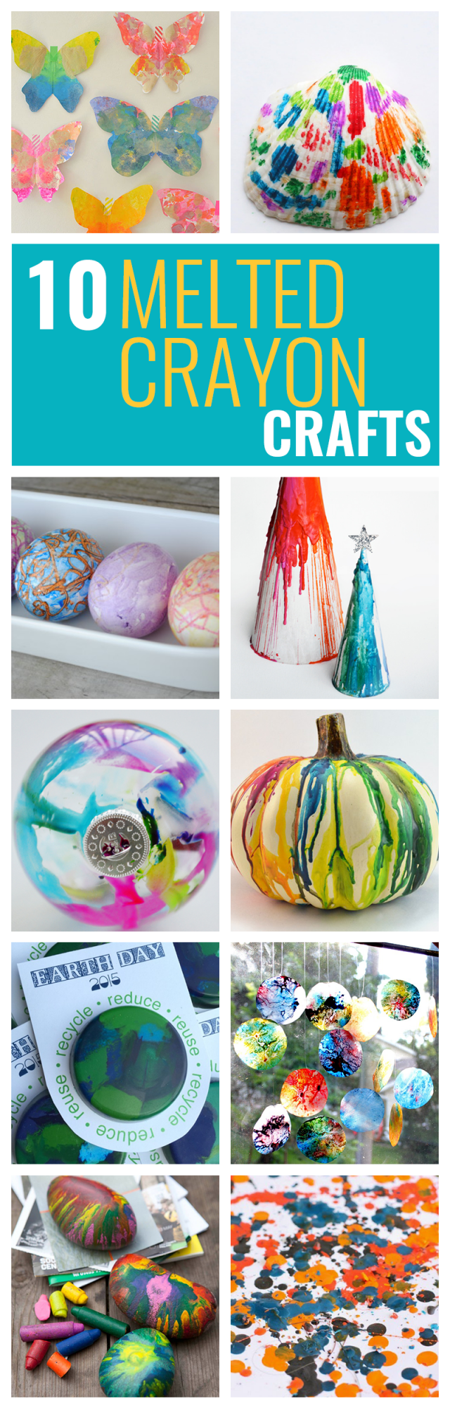I love using crayons to make art. These melted crayon craft projects are perfect for an afternoon DIY.