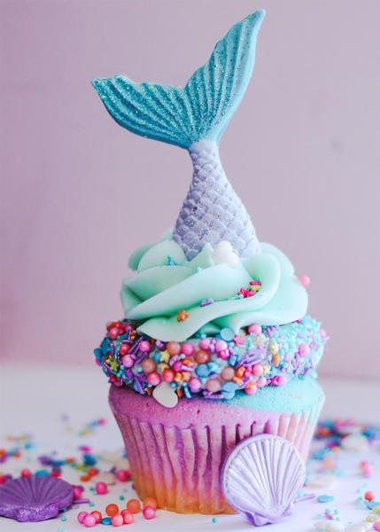 Mermaid Cupcake Recipe - Mermaid parties are all the rage right now. I love putting together a fun, undersea party for the mermaid lovers in my life. Here are 10 mermaid recipes you have to make for your next mermaid party.