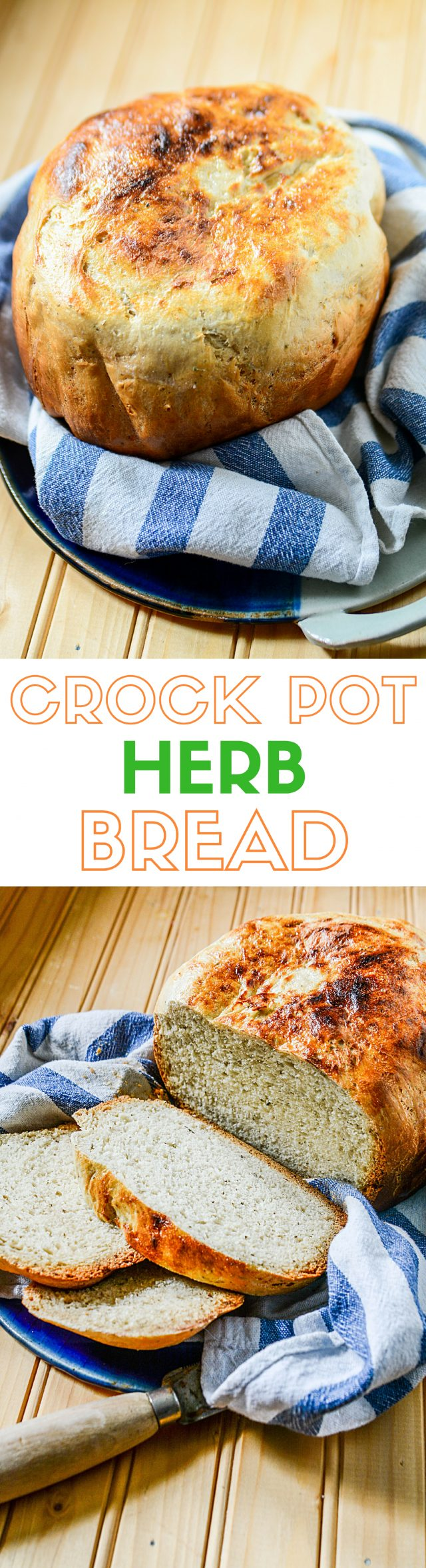 Easy herbed bread recipe made in a Crock-Pot Slow Cooker, which is perfect for fall!