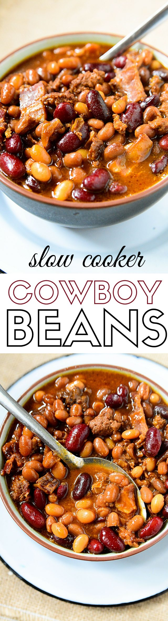 Ground beef, bacon, onions and three varieties of beans, this Crockpot baked beans recipe is the perfect option for a warm, hearty lunch or dinner this fall season.