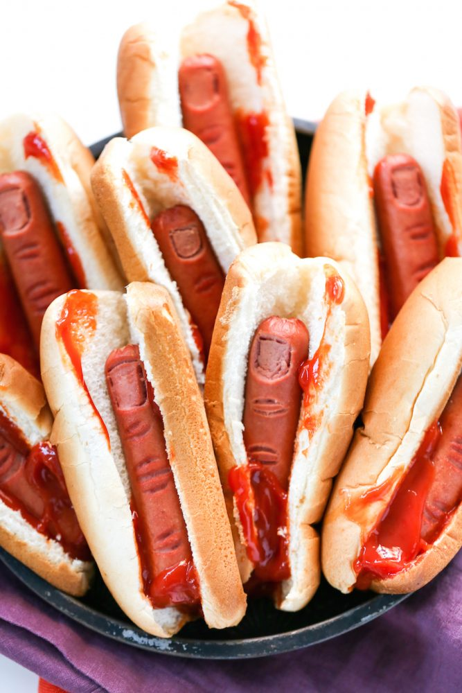 Halloween Bloody Severed Finger Hot Dogs Recipe