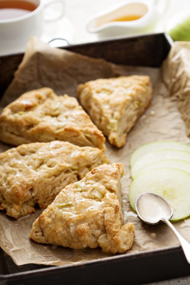 It's officially apple-picking season. Here are 20 awesome apple recipes to make this fall with all of your apples! -  Apple Scones
