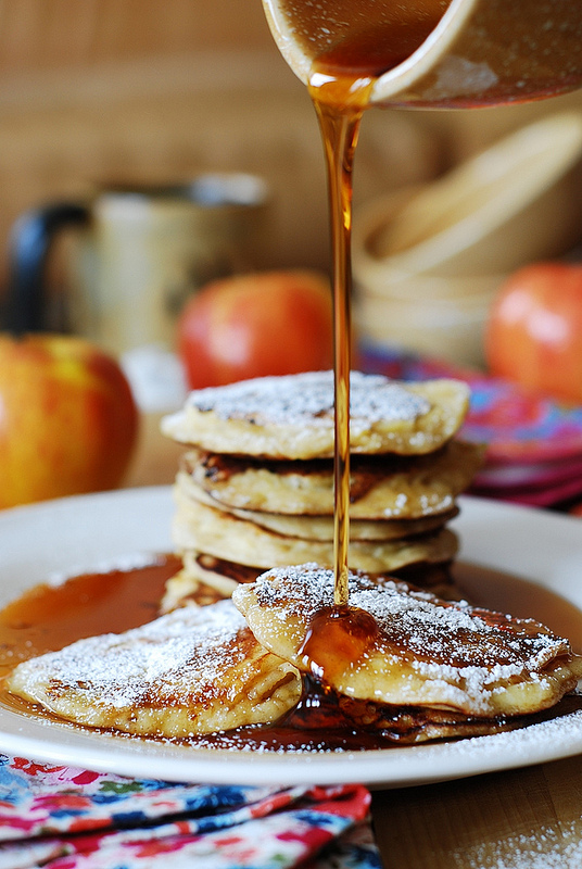 It's officially apple-picking season. Here are 20 awesome apple recipes to make this fall with all of your apples! -  Apple Cinnamon Yogurt Pancakes