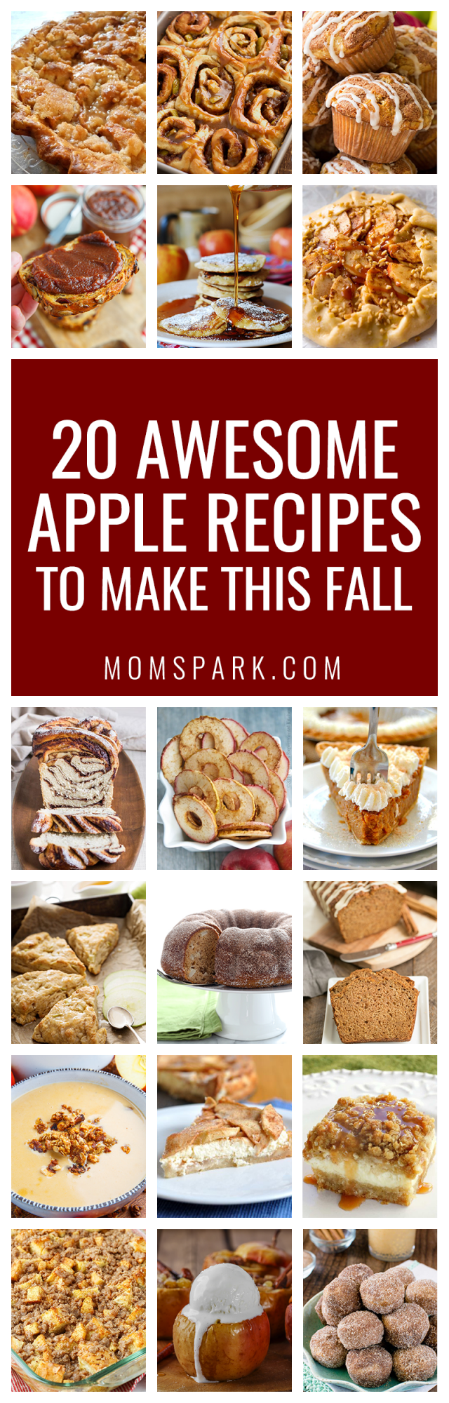 It's officially apple-picking season. Here are 20 awesome apple recipes to make this fall with all of your apples!