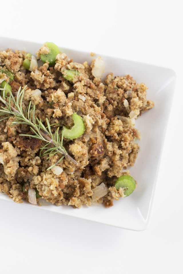 This bread stuffing is a buttery and savory dish with fresh herbs, onions, and celery made in a pressure cooker. It's the perfect holiday stuffing recipe for Thanksgiving, Christmas and beyond. Instant Pot or Multi-cooker.