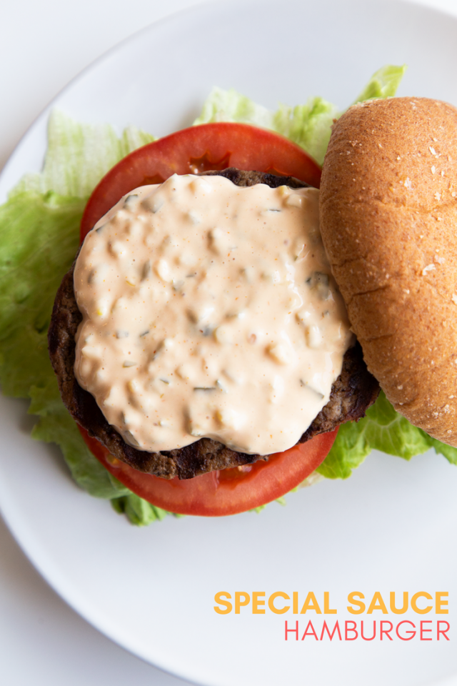 Best Ever Hamburger with Special Sauce