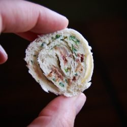Bacon, Spinach, Green Onion and Cream Cheese Tortilla Roll-Ups Appetizer Recipe