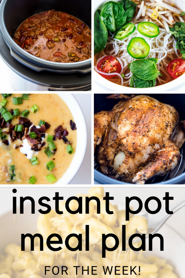 INSTANT POT MEAL PLAN FOR THE WEEK