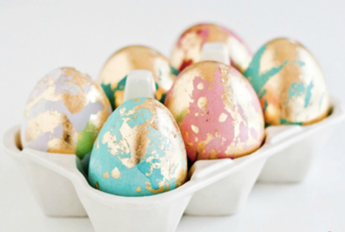 DIY Golden Easter Eggs by SheKnows