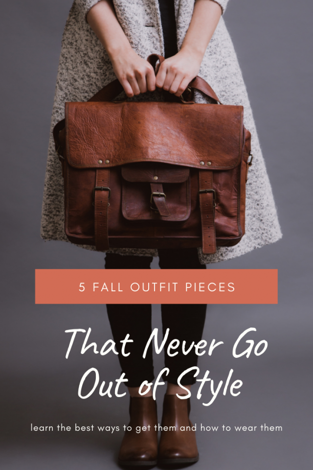 5 Fall Outfit Pieces That Never Go Out of Style At Any Age - these are Fall fashion staples - scarf, boots, sweater, leggings, big bag - that we should all have in our closets (in multiple styles and colors, of course) to put together an easy, comfy, cozy, and street style-worthy outfit perfect for the cool climate.