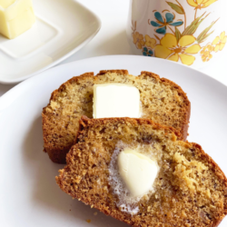 Easy Classic Banana Bread Recipe - A very easy and dangerously delicious banana bread recipe. Only 8 ingredients needed for this no-fail loaf of goodness and you'll never waste those over-ripe bananas again!
