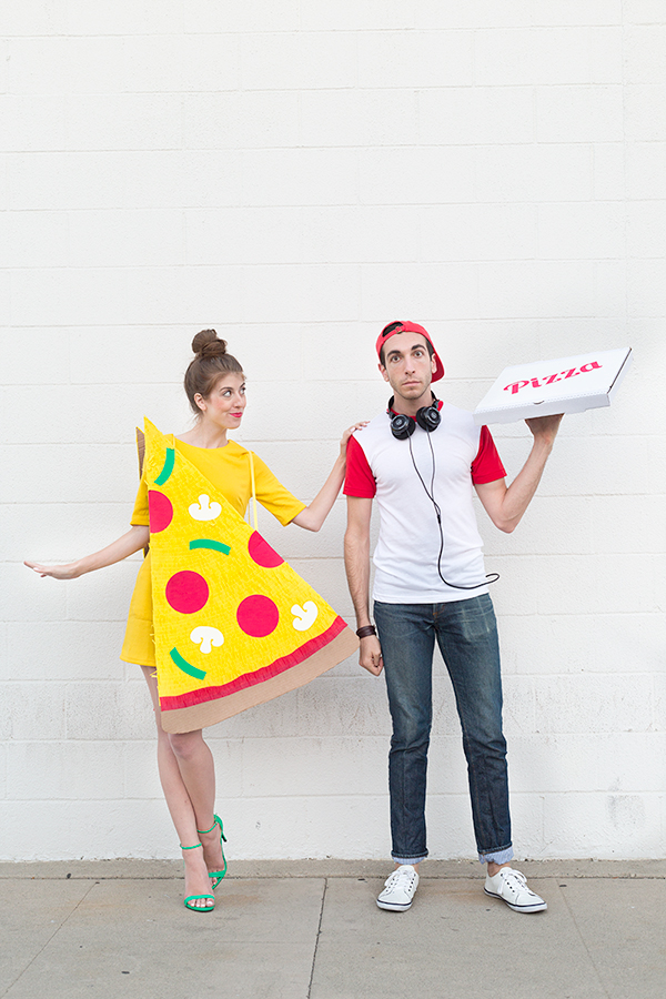 DIY Pizza and Delivery Guy Couples Costume