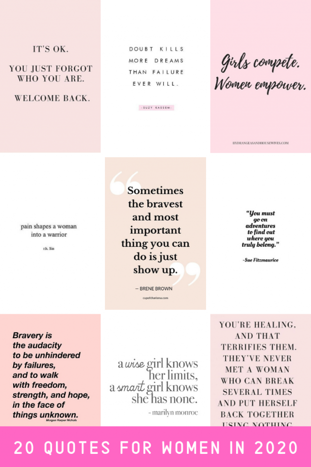 20 Inspirational Quotes for Women
