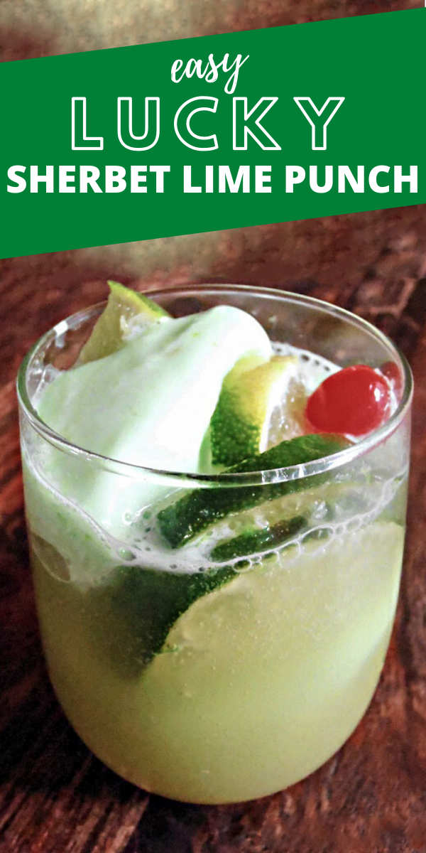 Lucky St. Patrick's Day Sherbet Lime Punch Recipe