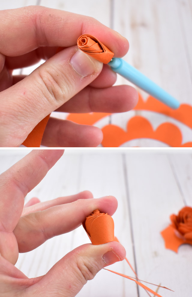 DIY Paper Fall Floral Wreath Craft