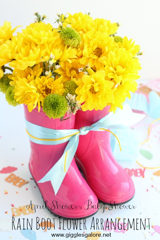 Rain Boot Flower Arrangement by Giggles Galore
